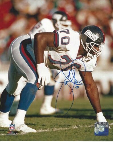 New York Giants Leonard Marshall autographed  8x10 action photo