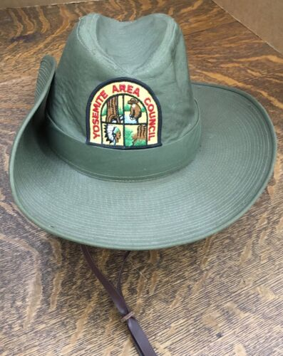 Boy Scouts Of America Campaign Hat with a Yosemite Area Council Patch-NICE