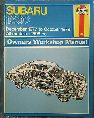 Haynes Workshop Manual Subaru 1600 from 1977 to 1979.