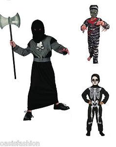 enfants neuf en d guisement halloween squelette chevalier faucheuse ou zombie ebay. Black Bedroom Furniture Sets. Home Design Ideas