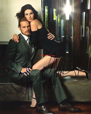 OUTLANDER SAM HEUGHAN & CAITRIONA BALFE  Autographed Signed 8x10 Photo Reprint