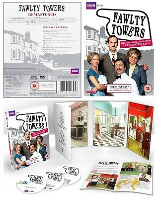 FAWLTY TOWERS 1+2 (1975+1979): Remastered COMPLETE TV Series - Eu Rg2 DVD not US