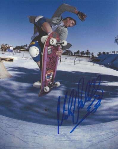 MIKE VALLELY SKATEBOARD LEGEND SIGNED 8X10 PHOTO H w/COA BONES BRIGADE PROOF