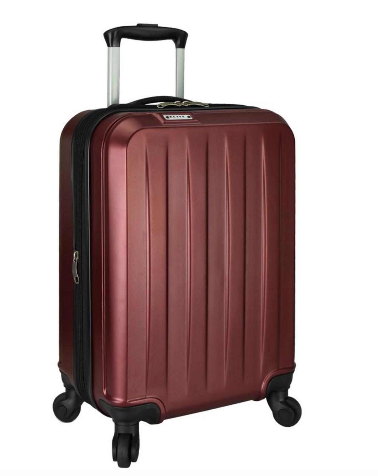 Elite Dori Expandable Carry-On Spinner Luggage, Burgundy By Elite Luggage - $39.99