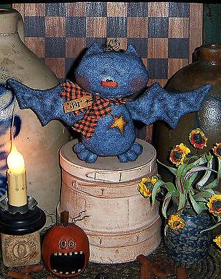 Primitive Halloween Vampire Bat Star Fall Doll Paper Pattern #638 - Starfall Halloween