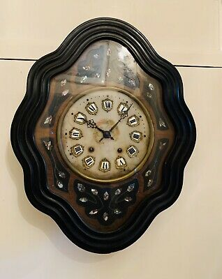 Antique French Morbier Provincial wall clock Circa 1900-1910