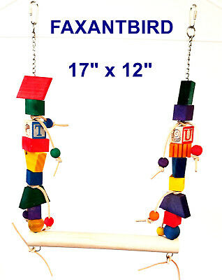 Swing And Thing Bird Toy Parrot Cage Toys for african grey cockatoo amazon