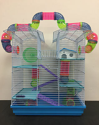 NEW Large Twin Towner Syrian Hamster Habitat Rodent Gerbil Mouse Mice Cage 240