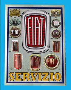 FIAT-SERVIZIO-TARGA-IN-METALLO-RIPRODUZIONE-D-039-EPOCA