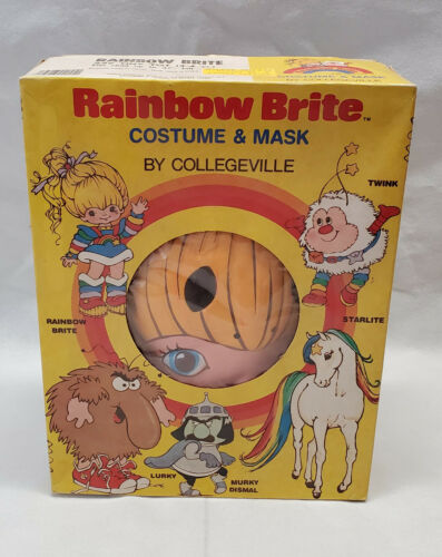 Vintage 1983 Collegeville Rainbow Brite Halloween Costume & Mask