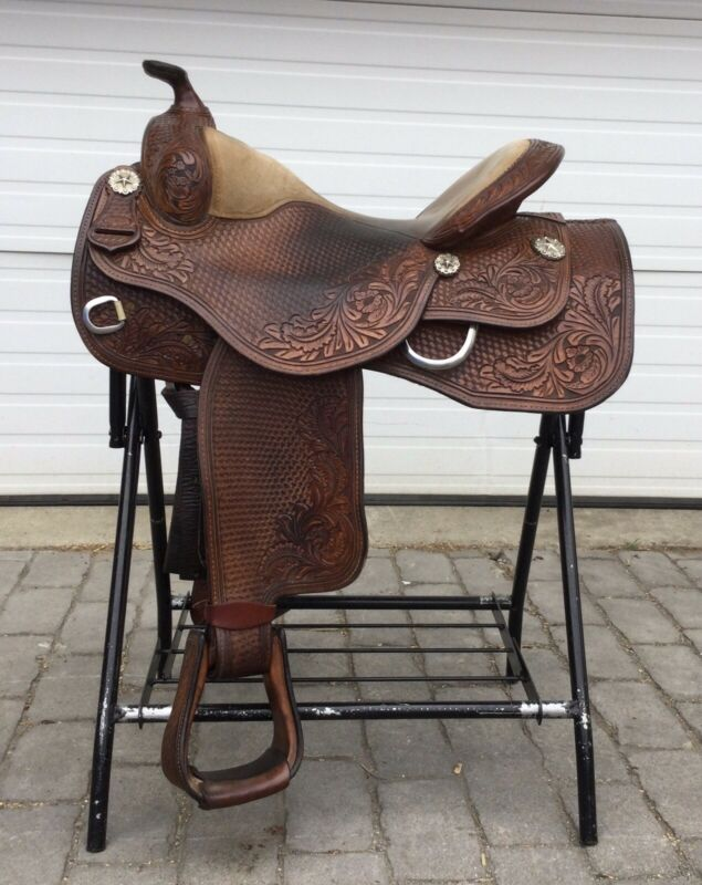 "Dale Chavez 17"" Ranch Western Saddle"