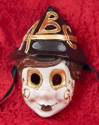 Mask Venice Pinocchio ABC Carnival venetian costume child 2449