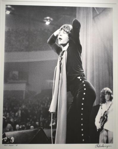 Scarce Mick Jagger vintage Charlie Auringer lt/ed Photo Giclee COA
