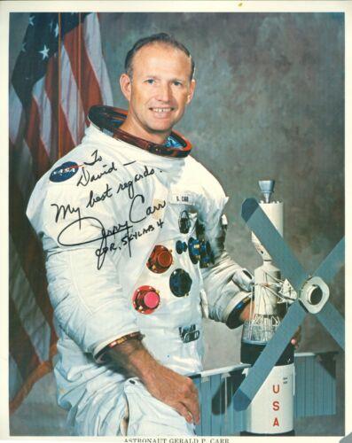 Astronaut Gerald P Carr (1932-2020) signed autograph photo 8 x 10 NASA Portrait