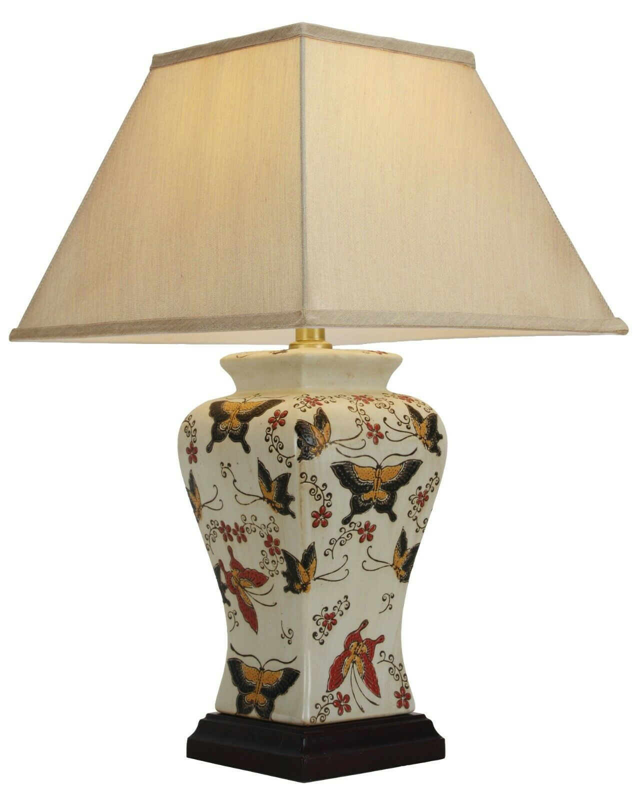 NOW £30 OFF - Genuine Chinese Ceramic Porcelain Butterfly Table Lamp (M9955)