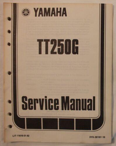 m Original 1980 Yamaha TT250G Service Manual
