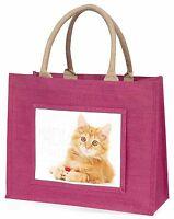 Morbidi Gattino Ginger Grande Rosa Borsa Shopping Idea Regalo Natale, Ac-158blp Rosa-  - ebay.it