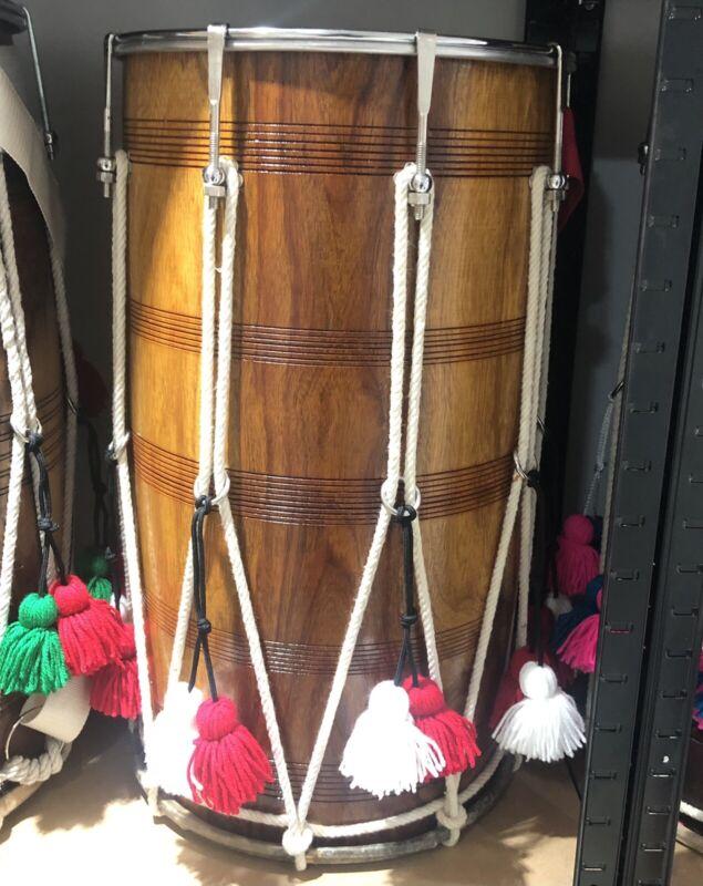 Professional Kachi Pakhi Thali Dhol Drum