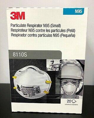 1 Box Of 20 3m 8110s Niosh Particulate Respirator Face Mask