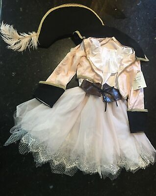 Pottery Barn Kids Girls Over Top Pirate Halloween Costume Pink 7-8 Years  #4543