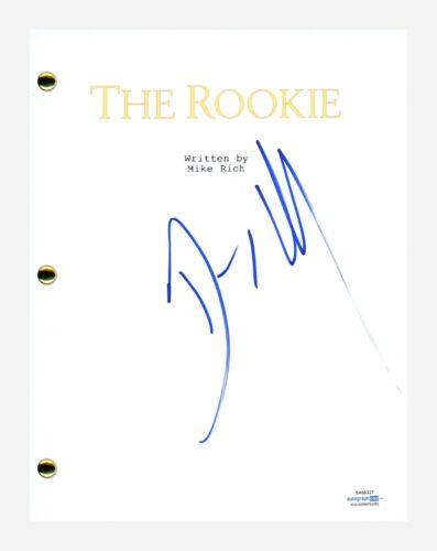 Dennis Quaid Signed Autographed The Rookie Movie Script Screenplay ACOA COA