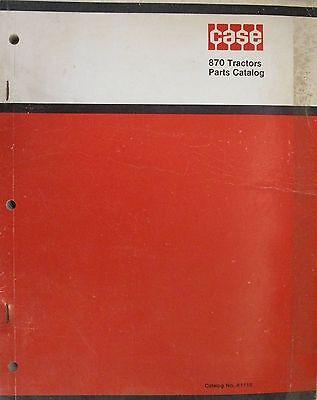 Original Case 870 Tractors Parts Catalog No. A1116