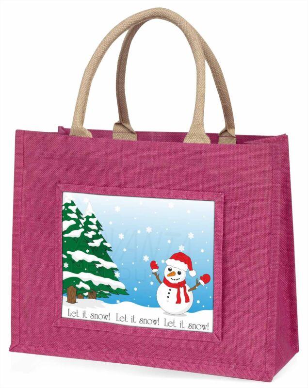 Snow+Man+Large+Pink+Shopping+Bag+Christmas+Present+Idea%2C+Snow-1BLP