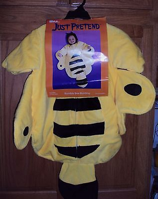 Just Pretend Halloween Costume Plush BUMBLE BEE Bunting 0-6 Months