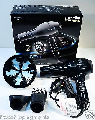Andis Pro Dry+ Tourmaline Ionic Ceramic Hair Blow Dryer #823