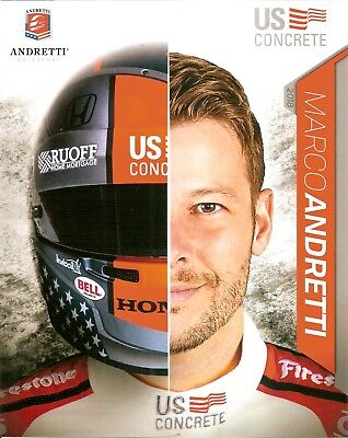 2018 Marco Andretti Us Concrete Indianapolis 500 Hero Photo Card Postcard Indy