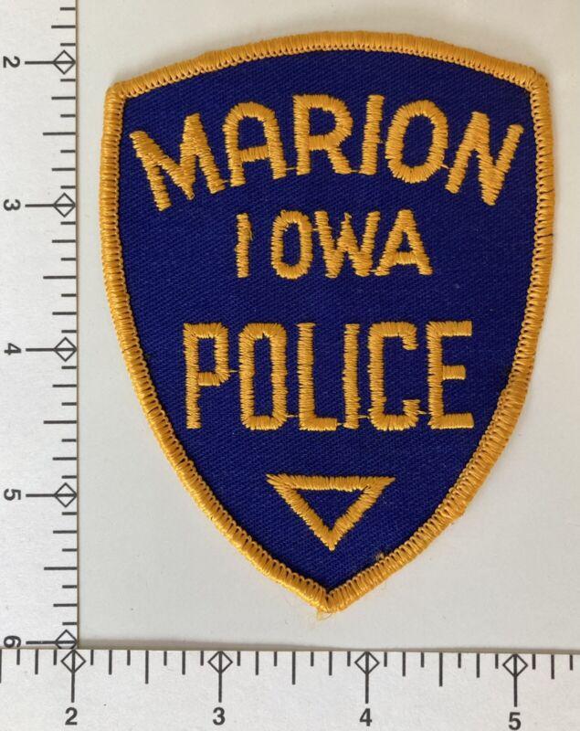 *Rare* Vintage Marion Iowa IA Police Patch