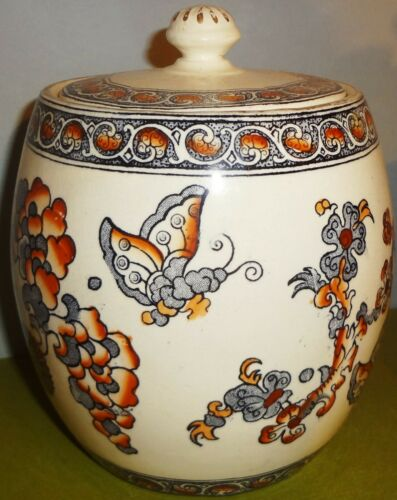 Dated 1882 S. FIELDING & CO. Staffordshire INDIA pattern BISCUIT or CRACKER JAR