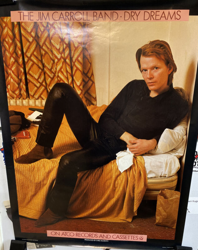 """Jim Carroll Band 1982 Promo Poster Dry Dreams 22"""" By 29"""""""