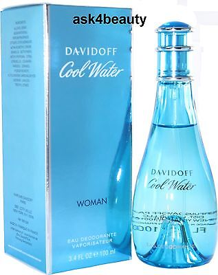 Cool Water By Davidoff Deo Spray For Women 3.4 oz/100ml New In Box on Rummage