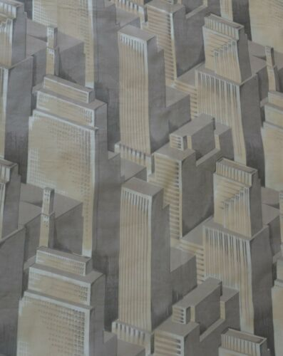 Vintage Skyscraper Fabric Art Deco New York City Architectural 1930