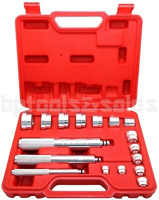 Bushing Installation Tool (17pc BUSHING BEARING DRIVER INSTALLER REMOVER INSERTING ALUMINUM METRIC TOOL)