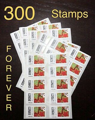 300 USPS FOREVER STAMPS - DISCOUNTED CHEAP POSTAGE -