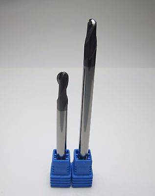 6mm R3.0 Hrc45 L 75mm 100mm Carbide Ball Nose End Mills Long Shank Endmills