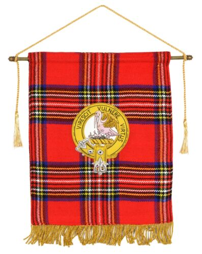 Hand Embroidery Scottish Clan Flag - 24 CM Width 30 CM Height