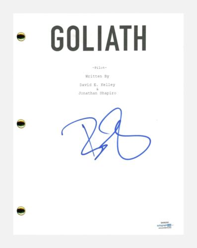 Billy Bob Thornton Signed Autographed Goliath Pilot Episode Script ACOA COA