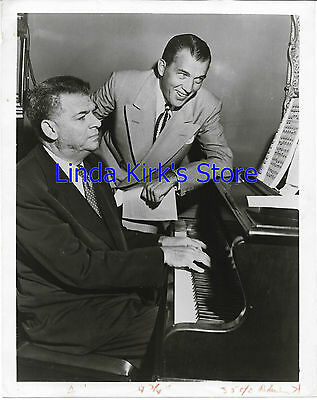 Oscar Hammerstein & Ed Sullivan Promotional Photograph At Piano Ed Smiling