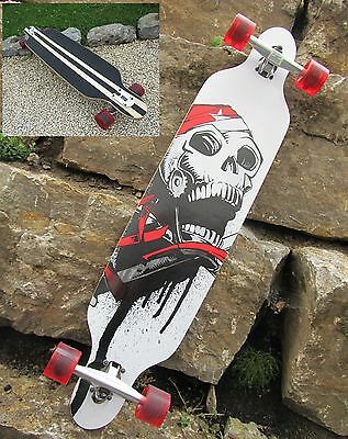 Longboard 41 Skull Board Skatboard Long Board Hohe Qualität 43069