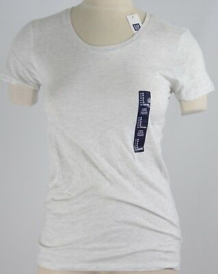NWT Womens GAP Favorite Crew Neck T-Shirt Light Heather - 135268