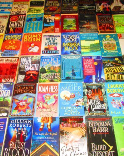 "MYSTERY Paperback Books ""10 POUND LOT"" CRIME/MURDER/DECEPTION/CLUES/SUSPICION"
