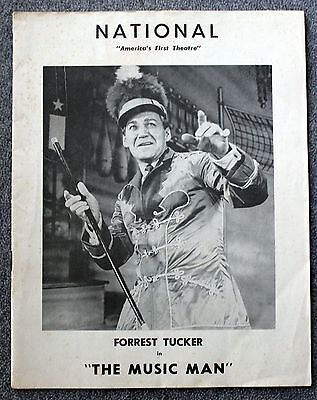 1961 THE MUSIC MAN Program FORREST TUCKER National Theatre THEATER Willson