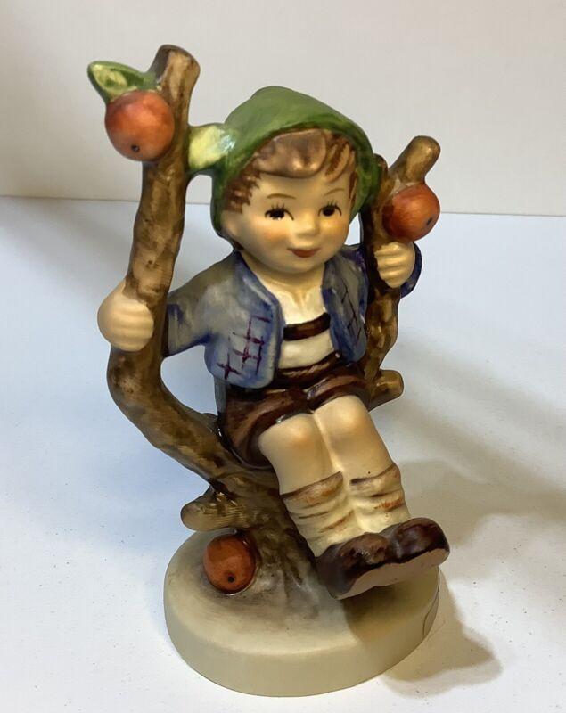 "Goebel HUMMEL W. Germany 4"" Figurine 142 3/0 APPLE TREE Boy VERY NICE Condition"