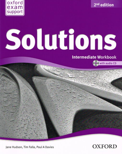 Oxford SOLUTIONS 2nd Edition Intermediate Workbook with Audio CD @NEW BOOK@