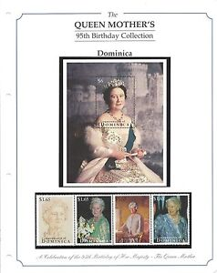 Stamps-The-Queen-Mothers-95th-Birthday-Collection-Dominica