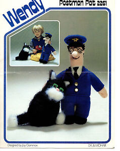 vintage postman pat knitting pattern 99p