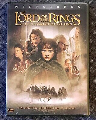 THE LORD OF THE RINGS The Fellowship of the Ring (DVD, 2001) - 2 Disc Set - VGC